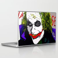 joker Laptop & iPad Skins featuring joker by Saundra Myles