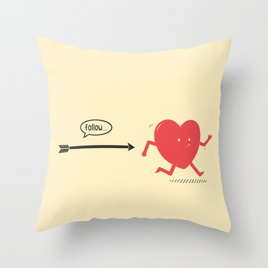 Follow the Heart Throw Pillow
