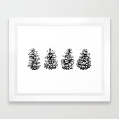 Pinecones Framed Art Print