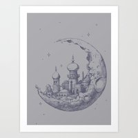 An Arabian Crescent Art Print