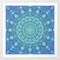 Crystalline Mandala   Art Print