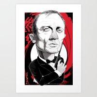 James Bond Art Print
