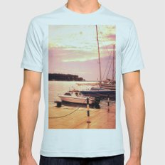 Evening At Port Mens Fitted Tee Light Blue SMALL