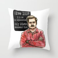 Ron Swanson Throw Pillow