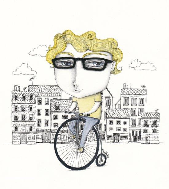 Biking Art Print