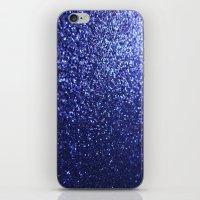 Royal Blue Glitter Sparkles iPhone & iPod Skin