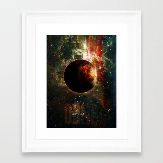 DUNE Planet Arrakis Poster Framed Art Print