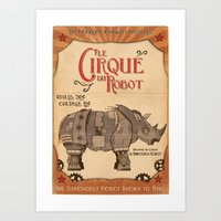 Robot Circus - Rhino Art Print