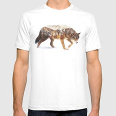 Arctic Wolf Mens Fitted Tee White SMALL