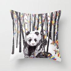 Panda Bear // Endangered Animals Throw Pillow