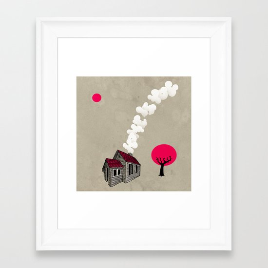Home is you Framed Art Print