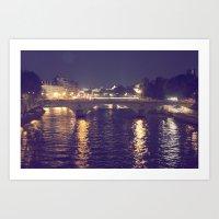 Paris By Night II Art Print