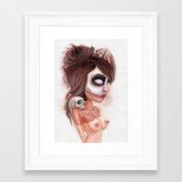 Deathlike Skull Impressi… Framed Art Print