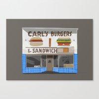 Carl's Burgers Canvas Print
