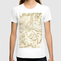 Rose breath Womens Fitted Tee White SMALL
