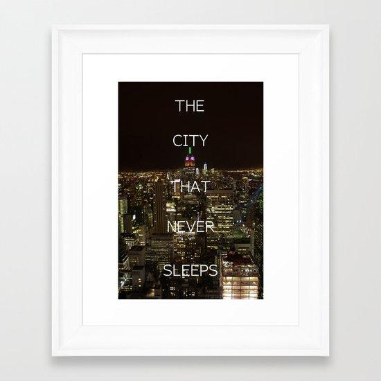New York, New York. Framed Art Print