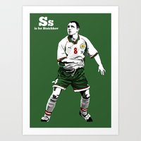 S is for Stoichkov Art Print