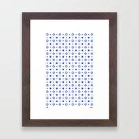 Dots / White Framed Art Print