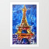 J'adore Eiffel Art Print