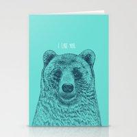 I Like You (Bear) Stationery Cards
