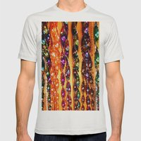 Wind Chimes Mens Fitted Tee Silver SMALL
