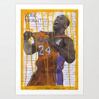 NBA PLAYERS - Kobe Bryan… Art Print