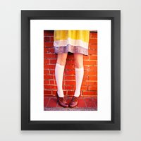 It's All About The Shoes… Framed Art Print