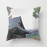 Temple at Dusk Throw Pillow