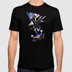 American Traditional Mens Fitted Tee Black SMALL
