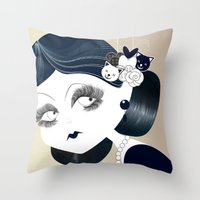 Savanah Black Throw Pillow