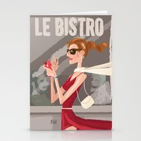 Le Bistro Stationery Cards