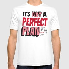 Not a Perfect Plan SMALL Mens Fitted Tee White