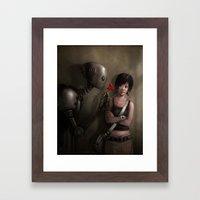 Robot In Love Framed Art Print