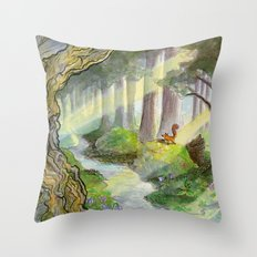 Ithilien, by a quiet stream Throw Pillow