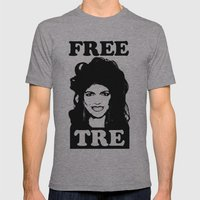 FREE TRE Mens Fitted Tee Athletic Grey SMALL