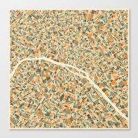 PARIS MAP Canvas Print
