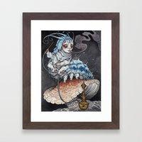 Absolem The Blue Caterpi… Framed Art Print