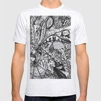 BLACK THOUGHTS  Mens Fitted Tee Ash Grey SMALL