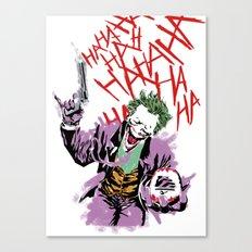 Joker hahaha psycho print Canvas Print