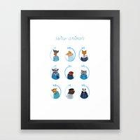 Sailor Animals Framed Art Print
