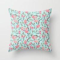 April Blooms_sky(In Memo… Throw Pillow