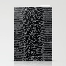 Unknown Radio Waves - Unknown Pleasures Stationery Cards