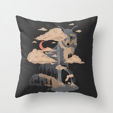 At the Foot of Fox Mountain... Throw Pillow