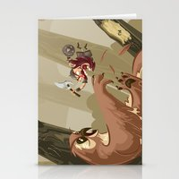Knubby The Dwarf Fights … Stationery Cards