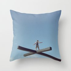 Crossover Throw Pillow
