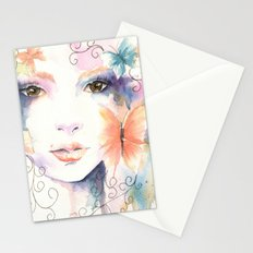 Butterfly Girl Stationery Cards