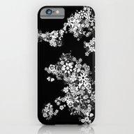 World Map Floral Black A… iPhone 6 Slim Case