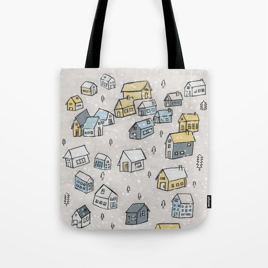 First day of snow Tote Bag