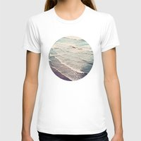 retro T-shirts featuring Ocean Waves Retro by Kurt Rahn