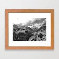 Caucasian Peak Framed Art Print
